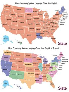 Most common second spoken anguages