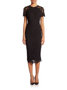 Shoshanna - Beaux Guipure Lace Sheath Dress