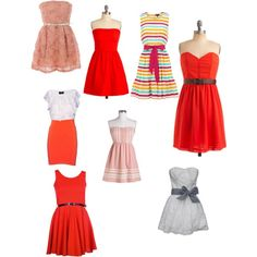 8th Grade Graduation Dress.... Which one is cutest?, created by caroline-frasier on Polyvore