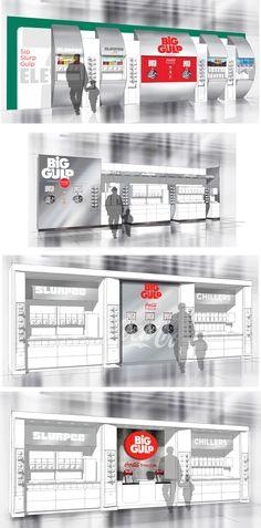 Coca-Cola freestyle beverage bar reset inside of 7-Eleven.