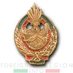 5e REI - 5 REI - 5th Foreign Infantry Regiment - 5th REI - Foreign Legion Etrangere - 1949 - Insignia - French Indochina