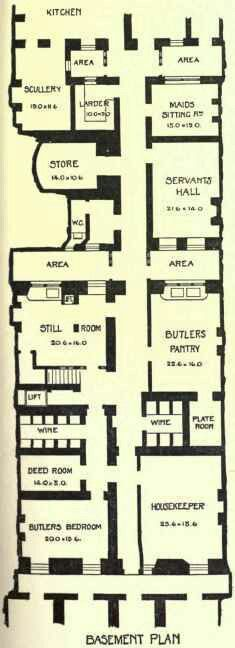 a house in charles street berkeley square basement plan