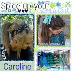 """""""Spicing up your ponytail♥"""" by thetipsisters on Polyvore"""