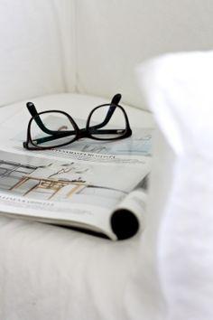 homevialaura   Paola Navone   Gervasoni Ghost   Ghost24   white linen chair   eye glasses