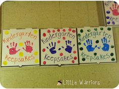 Kindergarten Keepsake Boxes for the End of the Year - Little Warriors