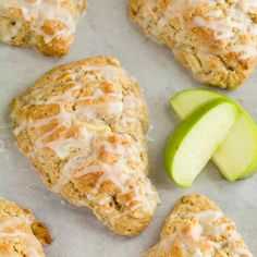 Light as air and crumbly, these apple cinnamon scones are packed with chunks of . Light as air and crumbly, these apple cinnamon scones are packed with chunks of apple and spicy cinnamon. Apple Cinnamon Scones Recipe, Apple Scones, Savory Scones, Cinnamon Apples, Brunch Recipes, Gourmet Recipes, Baking Recipes, Breakfast Recipes, Dessert Recipes