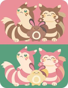 furret, sentret, furret shiny y sentret shiny All Pokemon, Cute Pokemon, Pokemon Stuff, Cute Photos, Cute Pictures, Video Game Anime, Video Games, Sketch 2, Pokemon Pictures