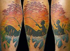 Fisherman tattoo by ~GrizzlyGreenEyes on deviantART