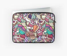 """Sweet assorty doodle."" Laptop Sleeves by kakapostudio | Redbubble"