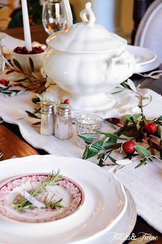 TIDBITS & TWINE: Styling my Christmas Table.  More photos at http://tidbitsandtwine.com/styling-my-christmas-table