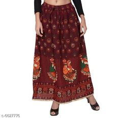 Ethnic Bottomwear - Skirts Stylish Women Skirts  Fabric: Pure Cotton Blend  Waist Size: Up To 28 in To 36 in ( Free Size)  Length: Up To 40 in  Description: It Has 1 Piece Of Women Skirt  Work: Printed Country of Origin: India Sizes Available: Free Size   Catalog Rating: ★3.9 (308)  Catalog Name: Stylish Women Skirts CatalogID_1056115 C74-SC1013 Code: 073-6627776-309