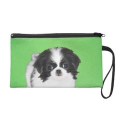 Japanese Chin Wristlet Purse - dog puppy dogs doggy pup hound love pet best friend