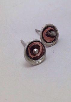 Aretes plata925 y cobre.
