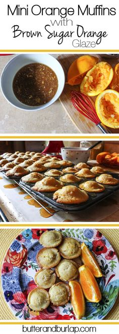 """Mini Orange Muffin with Brown Sugar Orange Glaze - Perfect """"poppable ..."""