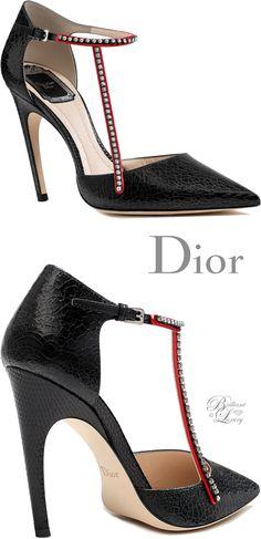 Brilliant Luxury by Emmy DE ♦Dior Black Crackled Deerskin Pump