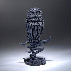 EDGE Sculpture - Owl Midnight Blue