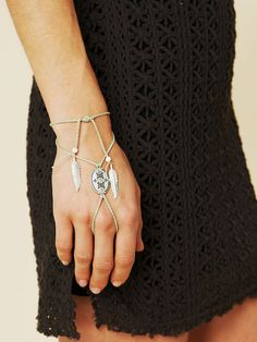Um, I think I need to have this.  Free People Concho Ring Wrap Bracelet, $38.00