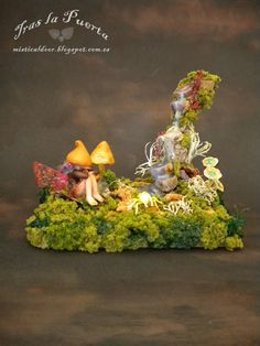The Secret Garden .•*¨`*•✿ Fantasy art creations by Silver Berry.  Ooak Art Doll One of a Kind Fantasy Sculpture.
