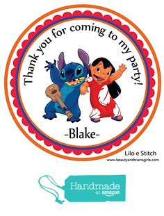 Lilo and Stitch Custom Personalized Stickers Birthday Party Favors - Treat Tag Toppers- 24 Stickers Popular Size 2.5 Inches. Peel- and Stick- Backing from Custom Party Favors, Handmade Craft , and Educational Products http://www.amazon.com/dp/B01E92N8XU/ref=hnd_sw_r_pi_dp_IOdexb096H1RS #handmadeatamazon