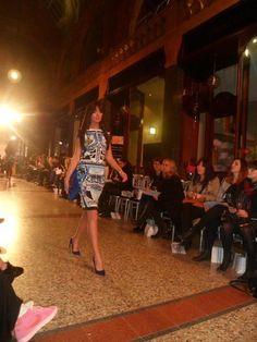 Mary Katrantzou s/s13. Taken at the Harvey Nichols Leeds Fashion Show