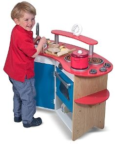 Best Toys for Kids 2014: www.pipedreamtoys.com Cook's Corner Wooden Play Kitchen