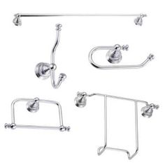 Innova Tottenham 5 Piece Bath Hardware Kit with FREE Magazine Rack in Chrome-BK-5TOT-07 at The Home Depot $40