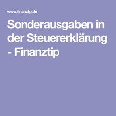 Sonderausgaben in der Steuererklärung - Finanztip