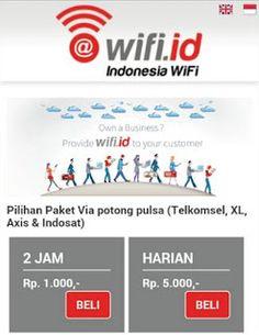 Cara Beli Wifi id Pakai Pulsa Telkomsel Indosat dan XL-Axis