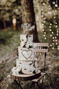 Country Wedding Cakes, Wedding Cake Rustic, Wedding Topper, Elegant Wedding, Floral Wedding, Nature Wedding Cakes, Birch Wedding Cakes, Purple Wedding, Fall Wedding Cakes