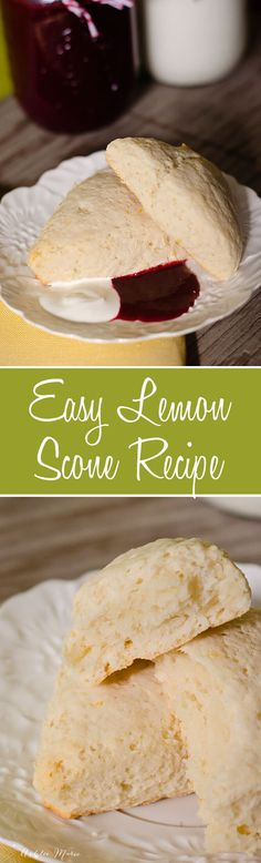 easy to make and oh so delicious, lemon scones. seriously these make the house smell divine and the flavor and texture are so good, serve with coulis and Creme Fraiche a copycat recipe from epcot at disneyworld Lemon Desserts, Lemon Recipes, Copycat Recipes, Sweet Desserts, Brunch Recipes, Breakfast Recipes, Dessert Recipes, Scone Recipes, Breakfast Ideas