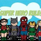the 5 rules of Whole Brain Teaching with a Super Hero look      graphics by MelonHeadz...