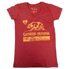 USC Women's Cardinal So Cal Bear V-Neck T-Shirt
