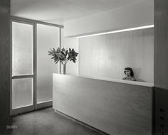 © Gottscho-Schleisner, Oct. 27, 1948, Office with secretary, Russel Wright, 221 E. 48th St., NYC)