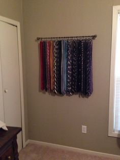 DIY Tie rack at home. By S. Foster Grant