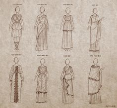 Ancient Greek Dresses / Also found at: http://ninidu.deviantart.com/art/Ancient-Greek-Dresses-441017746