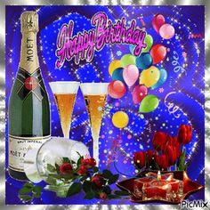 Consult PicMix Happy Birthday eigendom TSDimova over PicMix. Happy Birthday Flowers Wishes, Happy Birthday To Him, 70th Birthday Card, Happy Birthday Cupcakes, Happy Birthday Celebration, Birthday Wishes And Images, Happy Birthday Pictures, Birthday Wishes Cards, Happy Birthday Balloons