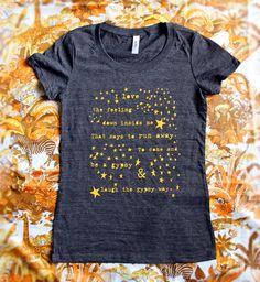 <3 Gypsy Way T-shirt. $19,50, via Etsy.