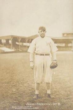 1909 Barr-Farnham Photo Washington Senators Postcards #NNO Jerry Freeman Front