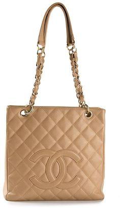 Chanel Vintage petite shopping tote