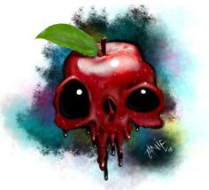 Apple Skull by johzany on DeviantArt