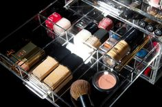 Glamourliving® is the top online makeup storage seller of chemical free, registered and trademarked, luxury organisers. Good Makeup Storage, Acrylic Makeup Storage, Perfume Tray, Best Makeup Products, Grid, Cool Hairstyles, Divider, Crystals, Fun