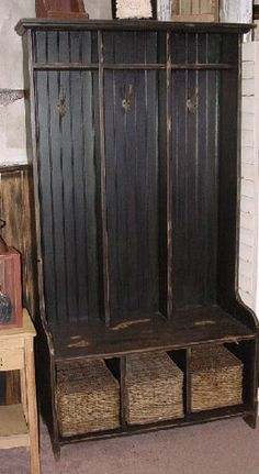 hall tree made from doors   Hall TreesCustom Made to your Dimensions by Our Woodshop