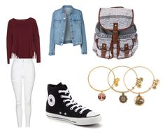 """""""Ready for school"""" by alliedaniels on Polyvore featuring Boris, Converse, Alex and Ani and Topshop"""