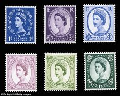 The Wildings series of postage stamps was released in the Queen assumed the role of monarch. It was named after the photographer Dorothy Wildings who took the Queen's portrait for the stamp Uk Stamps, Rare Stamps, Vintage Stamps, Elizabeth Ii, Gift Voucher Design, Isabel Ii, Instagram Frame, Frame Template, Mail Art