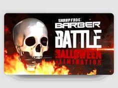 Advertising ▸ SharpFade ® Halloween Barber Battle by GO AUDIOVISUAL on Dribbble 3d Logo, Barber, Battle, Advertising, Animation, Halloween, Beard Barber, Beard Trimmer, Barbershop
