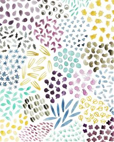 Anika - Day 10 #backtopattern - Seeds Do you ever play around with the hue adjustment in Photoshop? It's fun but can yield too many options! I decided to post the original version after all! #letsmakepatterns