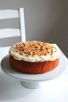 Ginger Citrus Carrot Cake with Cream Cheese Frosting #carrotcake #creamcheesefrosting