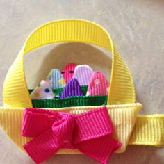 Easter basket bow! I made this!