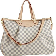 Louis Vuitton Damier Azur Canvas Siracusa GM Beige Women Shoulder Bags And Totes  - Please Click picture to view ! discount 50% | Price: $193.20   | More Top Replica Louis Vuitton Handbags cheap:www.louisvuittonbeltt.com/louis-vuitton/women-azur-canvas/
