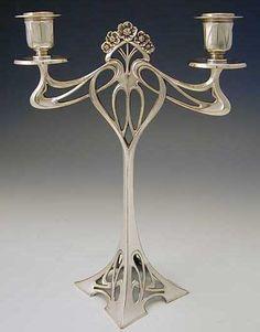 Art Nouveau candle holder circa 1906.